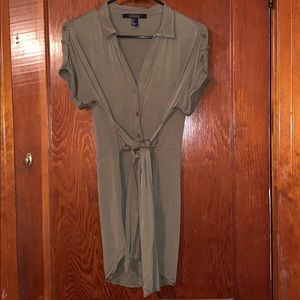 {FOREVER21} CONTEMPORARY olive utility dress